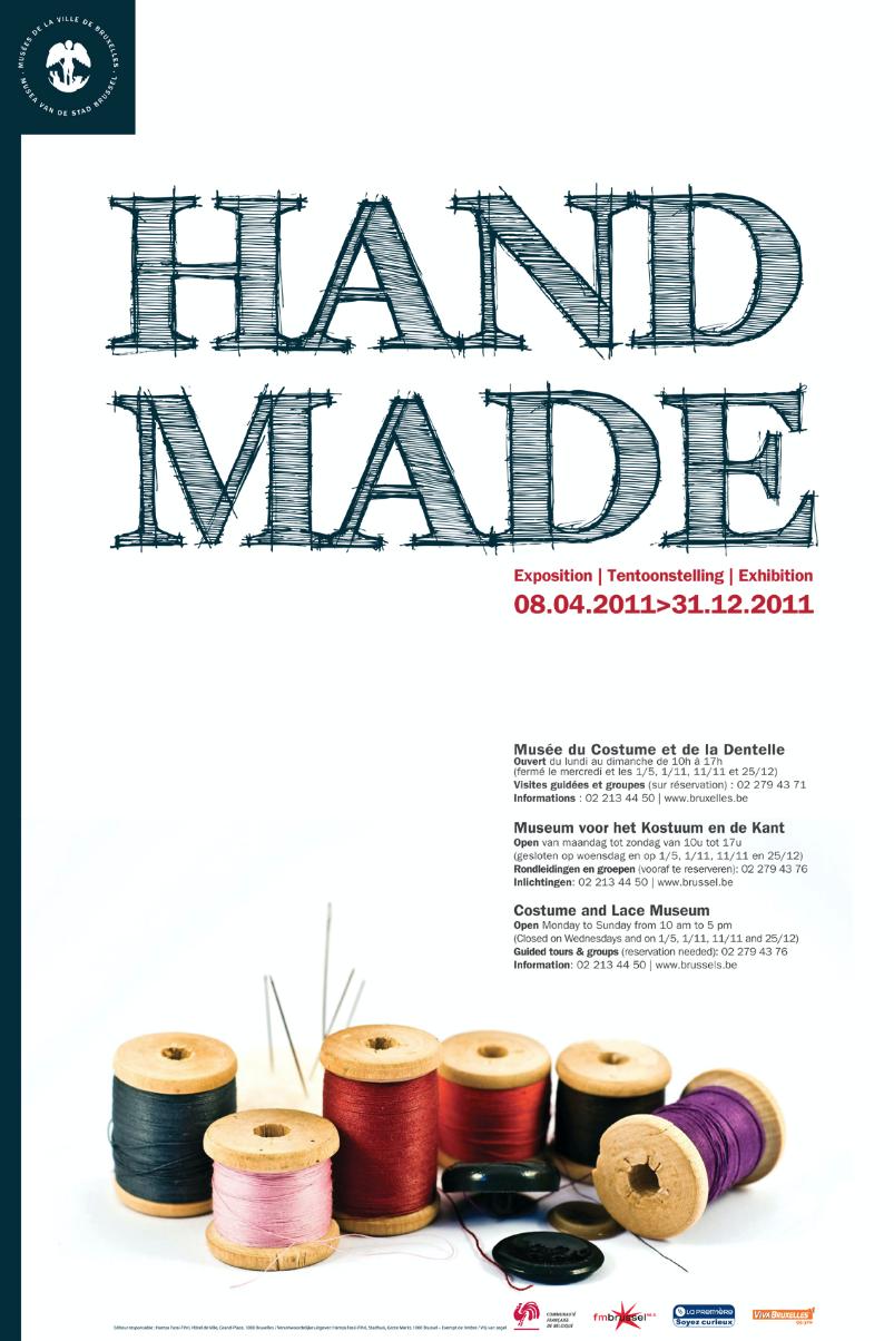Expo Handmade - Musee mode et dentelles Affiche ©Chuva Design