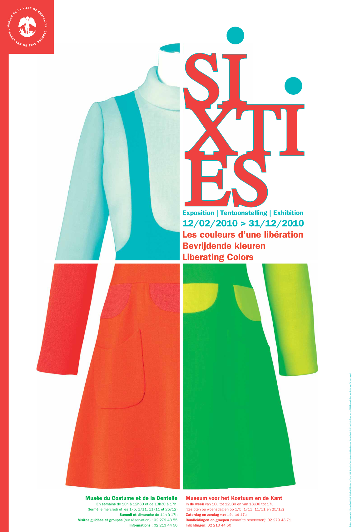 Expo Sixties - Musee mode et dentelles Affiche ©Chuva Design
